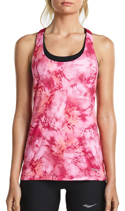 Womens Saucony Strider Sleeveless & Tank Tops Technical Tops - Raspberry S