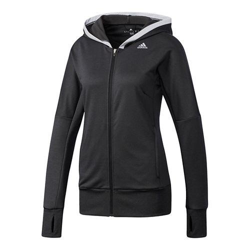 Womens Adidas Beyond The Run Hoodie Running Jackets - Black L