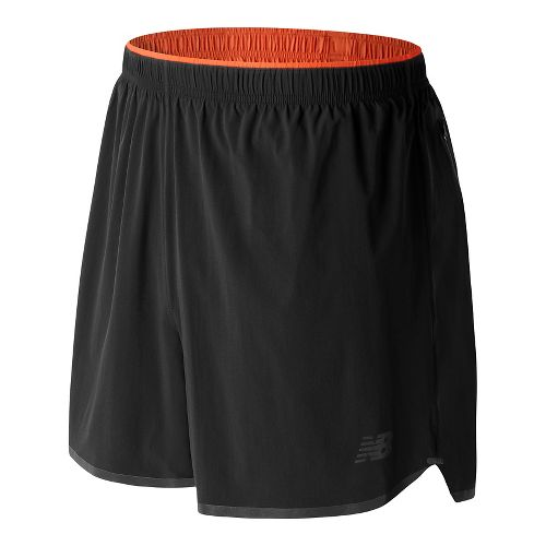 Mens New Balance Precision Run Shorts - Black XL