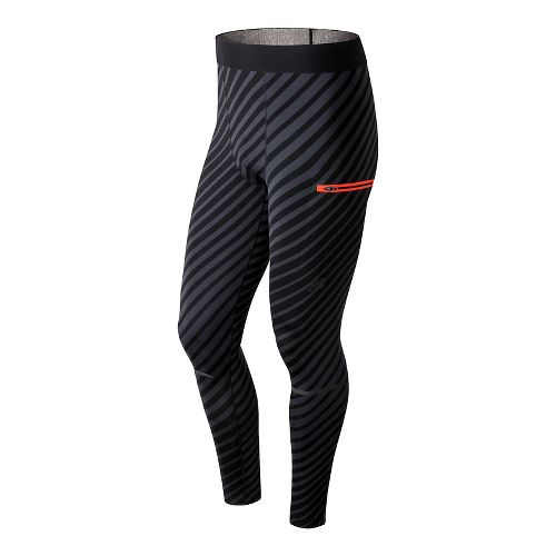 Mens New Balance Precision Run Tights - Black M