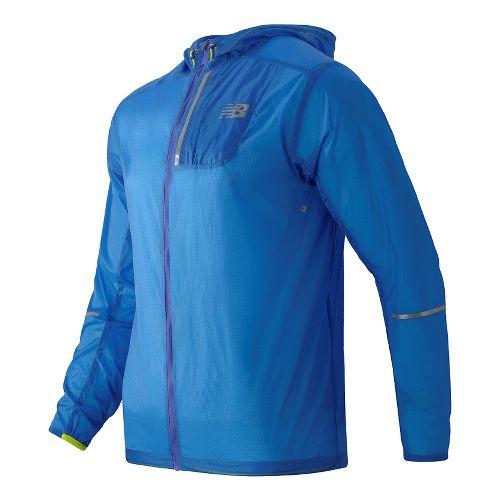 Mens New Balance Lite Packable Running Jackets - Electric Blue XL