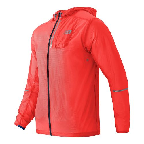 Mens New Balance Lite Packable Running Jackets - Alpha Orange XL