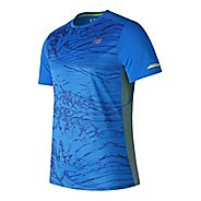 Mens New Balance NB ICE Print Short Sleeve Technical Tops