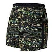 "Mens New Balance Impact 5"" Track Print Lined Shorts"
