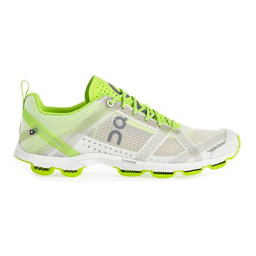Mens On Cloudracer 2 Running Shoe - Silver/Lime 12.5