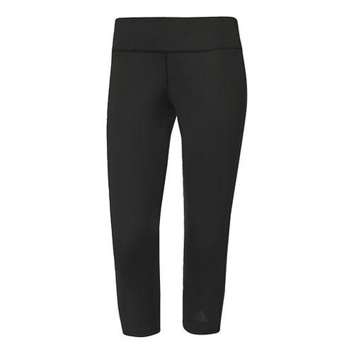 Womens Adidas D2M Three-Quarter Crop Tights - Black L