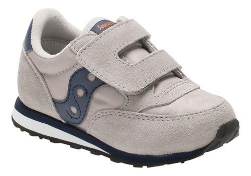 Kids Saucony Baby Jazz Hook and Loop Casual Shoe - Grey/Navy 6C
