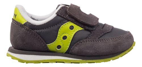Kids Saucony Baby Jazz Hook and Loop Casual Shoe - Grey/Citron 4.5C