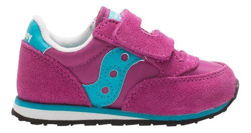 Kids Saucony Baby Jazz Hook and Loop Casual Shoe - Magenta/Blue 7.5C
