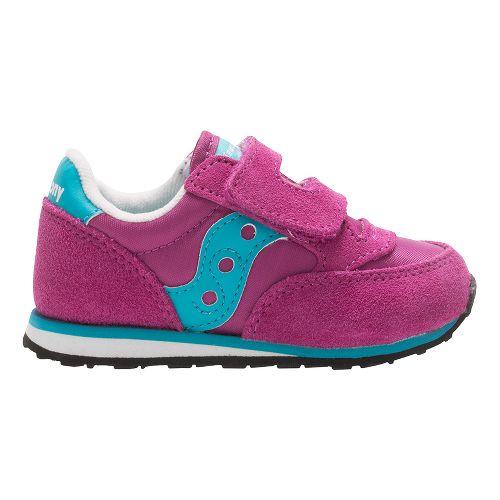 Kids Saucony Baby Jazz Hook and Loop Casual Shoe - Magenta/Blue 10C