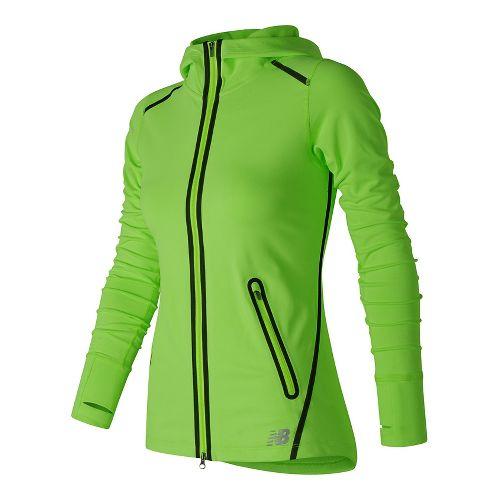 Womens New Balance Trinamic Running Jackets - Lime Glow XL