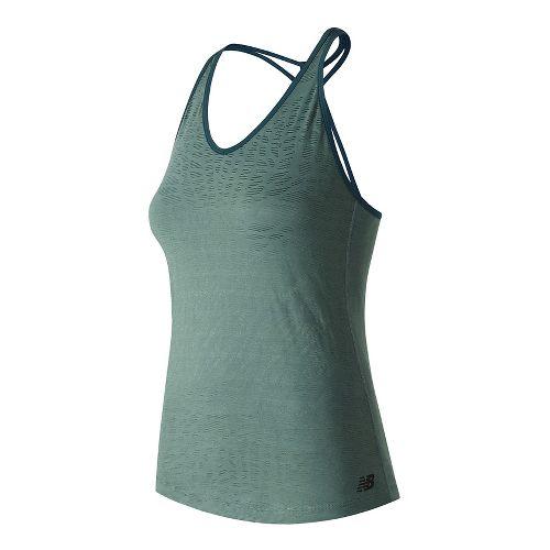 Womens New Balance Fashion Sleeveless & Tank Technical Tops - Typhoon XL