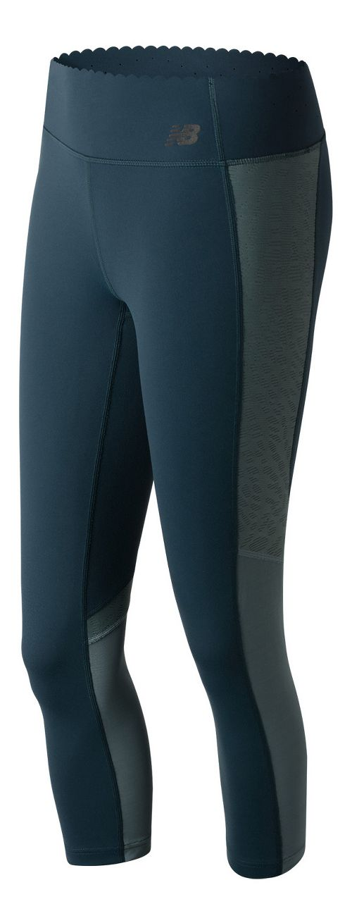 Womens New Balance Fashion Crop  Tights - Supercell L