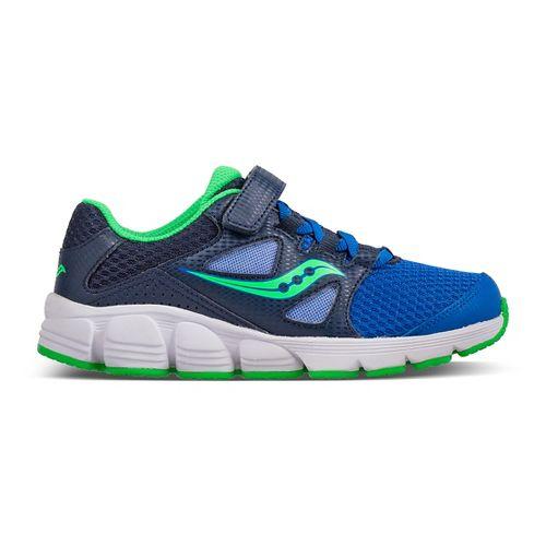 Kids Saucony Kotaro 4 A/C Running Shoe - Blue/Green 10.5C
