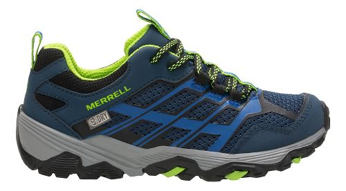 Kids Merrell Moab FST Low WTRPF Trail Running Shoe - Blue 4Y