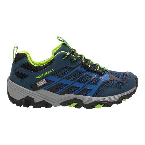 Kids Merrell Moab FST Low WTRPF Trail Running Shoe - Blue 3.5Y