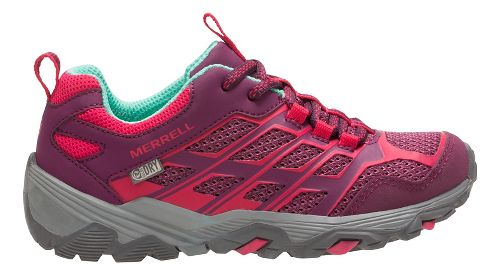 Kids Merrell Moab FST Low WTRPF Trail Running Shoe - Berry 5.5Y