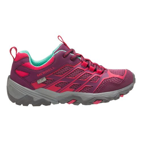 Kids Merrell Moab FST Low WTRPF Trail Running Shoe - Berry 5Y