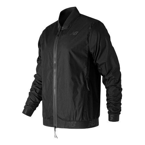 Mens New Balance 247 Bomber Casual Jackets - Black XL