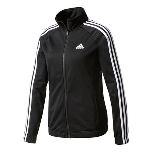 Womens adidas Designed-2-Move Track Top Long Sleeve Technical Tops - Black/White XL