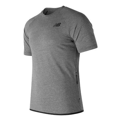 Mens New Balance 247 Tech Tee Short Sleeve Technical Tops - Black XXL