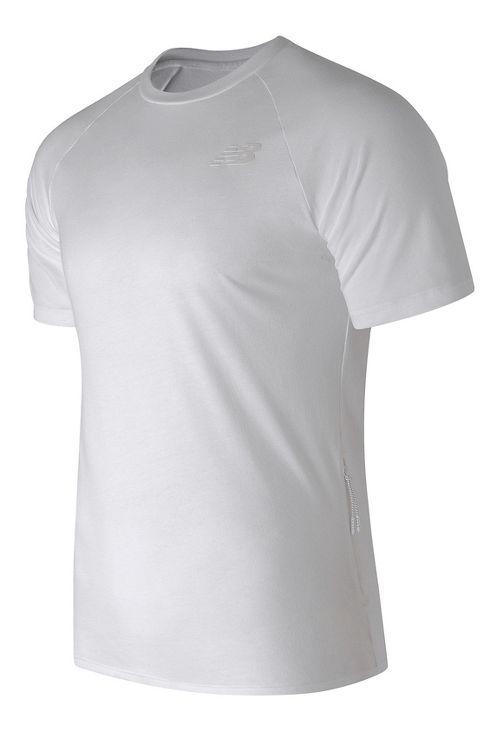 Mens New Balance 247 Tech Tee Short Sleeve Technical Tops - White M