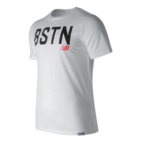 Mens New Balance Boston Graphic Tee Short Sleeve Technical Tops - White M