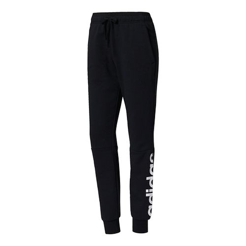 Womens Adidas Essentials Linear Pants - Black,/White L