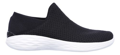 Womens Skechers YOU Casual Shoe - Black/White 8