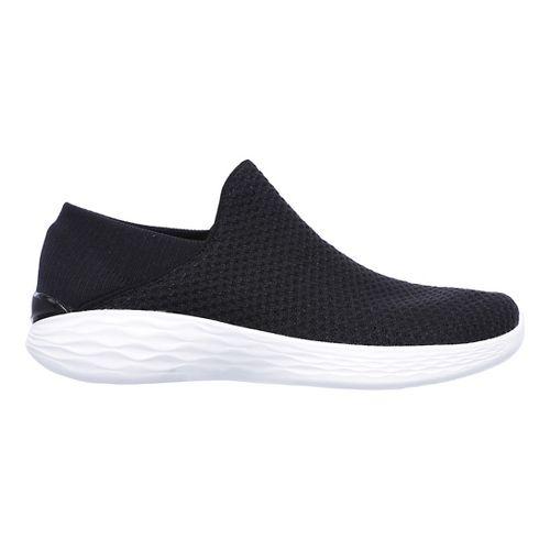 Womens Skechers YOU Casual Shoe - Black/White 7.5