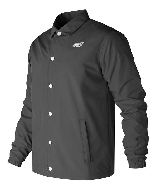 Mens New Balance Classic Coaches Casual Jackets Technical Tops - Black L