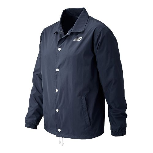 Mens New Balance Classic Coaches Casual Jackets Technical Tops - Navy XXL