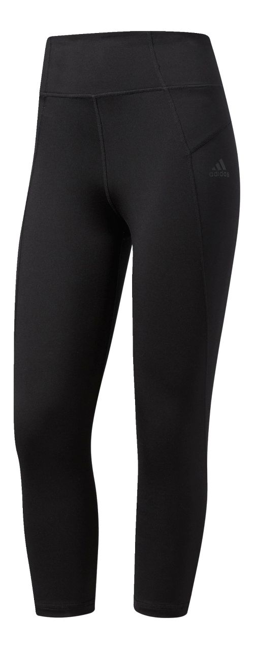 Womens adidas Performer High-Rise Three-Quarter Crop Tights - Black M
