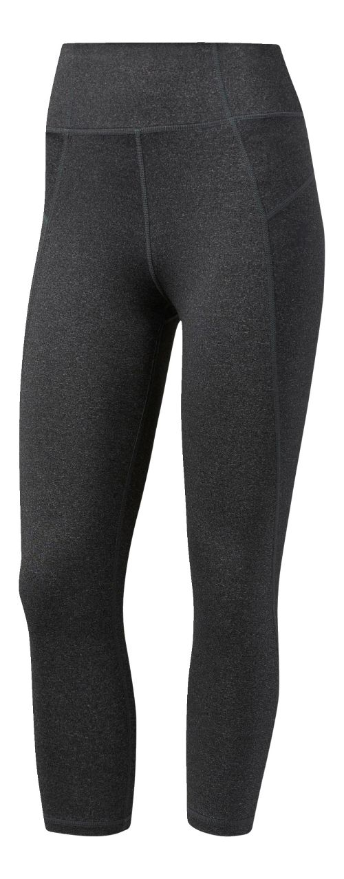 Womens Adidas Performer High-Rise Three-Quarter Crop Tights - Grey/Black S