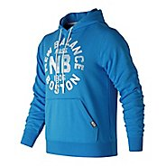 Mens New Balance Classic Pullover Graphic Half-Zips & Hoodies Technical Tops