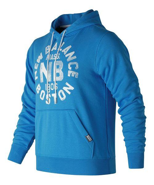 Mens New Balance Classic Pullover Graphic Half-Zips & Hoodies Technical Tops - Helium M