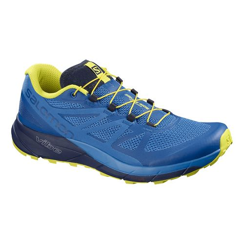 Mens Salomon Sense Ride Trail Running Shoe - Blue Indigo 9