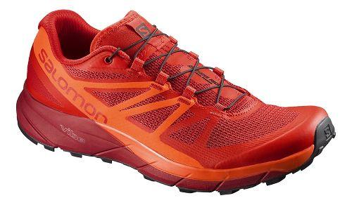 Mens Salomon Sense Ride Trail Running Shoe - Red/Scarlet 9