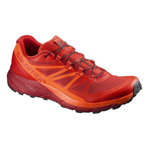 Mens Salomon Sense Ride Trail Running Shoe - Red/Scarlet 10