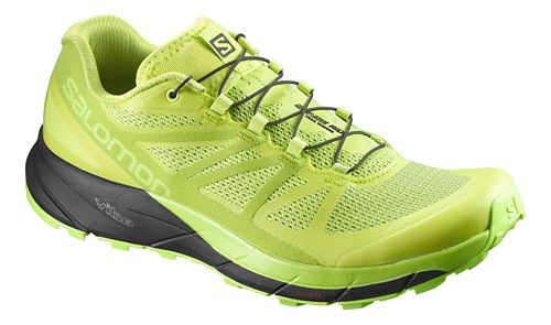 Mens Salomon Sense Ride Trail Running Shoe - Lime/Black 11