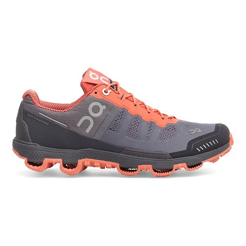 Womens On Cloudventure Trail Running Shoe - Grey/Lava 10.5