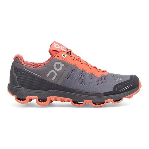 Womens On Cloudventure Trail Running Shoe - Grey/Lava 7.5