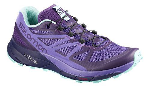 Womens Salomon Sense Ride Trail Running Shoe - Purple Purple 11