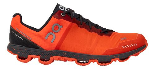 Mens On Cloudventure Peak Trail Running Shoe - Flame/Shadow 8