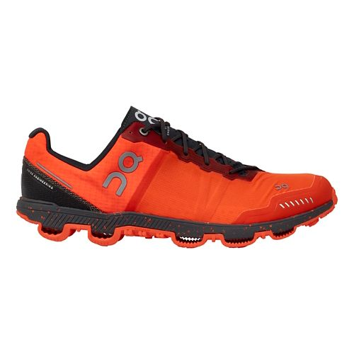 Mens On Cloudventure Peak Trail Running Shoe - Flame/Shadow 7.5