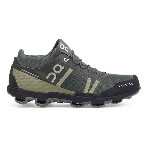 Mens On Cloudventure Midtop Trail Running Shoe - Forest/Grey 11.5