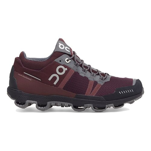 Womens On Cloudventure Midtop Trail Running Shoe - Mulberry/Grey 8.5