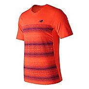 Mens New Balance Yarra Crew Short Sleeve Technical Tops
