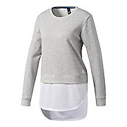Womens Adidas Dual Sweatshirt Long Sleeve Technical Tops