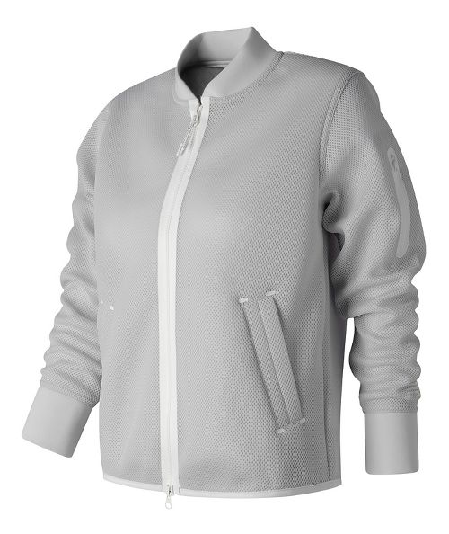 Womens New Balance 247 Mesh Bomber Casual Jackets - Arctic Fox S